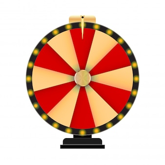 Wheel of fortune, lucky icon with place for text.