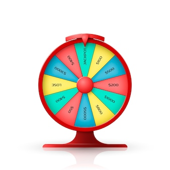Wheel of fortune.  object  on white background.  illustration