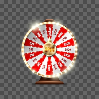 Wheel of fortune to play and win the jackpot  on transparent background. roulette of luck. win fortune roulette.  illustration