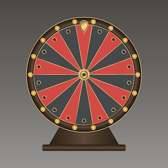 Wheel of fortune. realistic template. vector illustration.