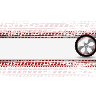Wheel and grunge tire track. abstract corpoate background. vector design