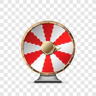 투명한 배경에서 잭팟을 플레이하고 승리하는 행운의 바퀴. 행운의 룰렛. 행운의 룰렛에서 승리하십시오. 삽화