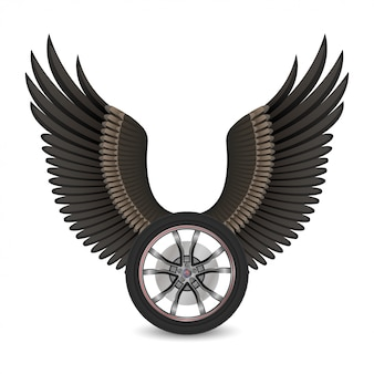 Wheel and wings