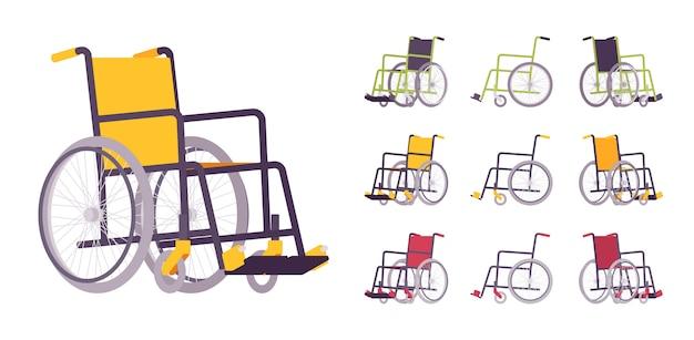 Wheelchair cartoon set