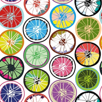 The wheels are similar to cycling, and similar to slices of lime and lemon.