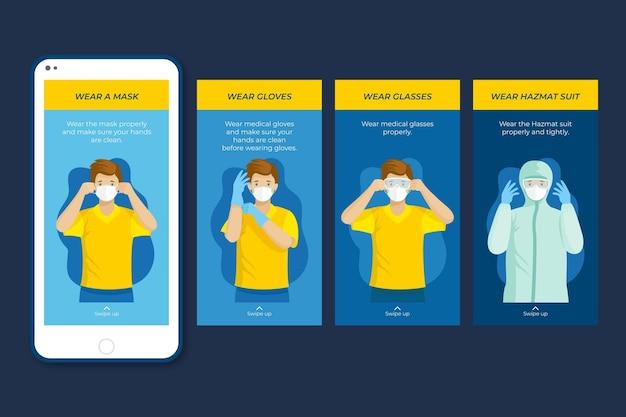 Quando e come utilizzare i messaggi instagram dei dispositivi di protezione sanitaria