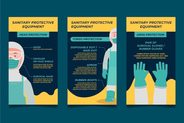 When and how use sanitary protective equipment instagram stories
