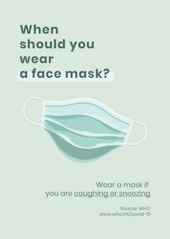 When to wear a mask recommendation covid-19 awareness