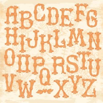 기발한 손으로 그린 알파벳 편지