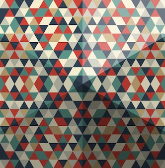 Whimsical pattern of triangular polygons