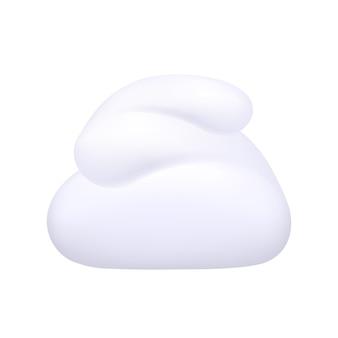 Whipped cream foam product  on white.  illustration.