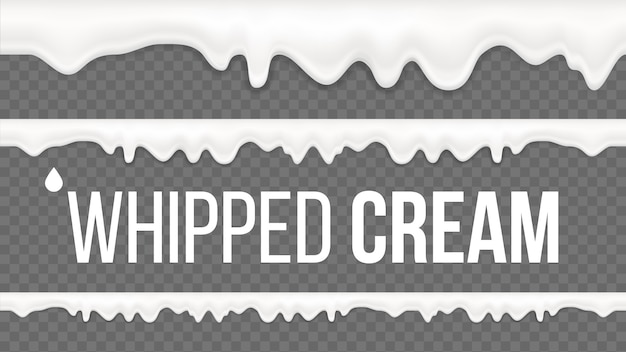 Whipped cream pattern