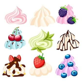 フルーツとベリーのホイップクリーム