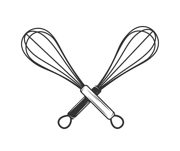 Whisk illustration in hand drawn