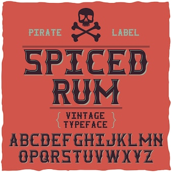 Whiskey fine  font / vintage typeface for alcohol drinks