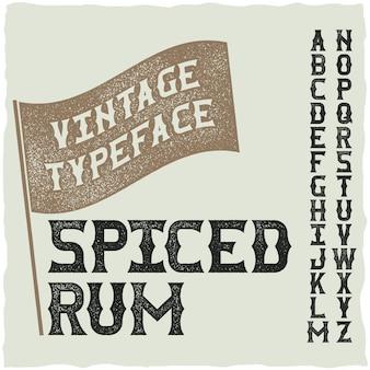 위스키 파인 라벨 글꼴 / 알코올 음료 용 빈티지 서체