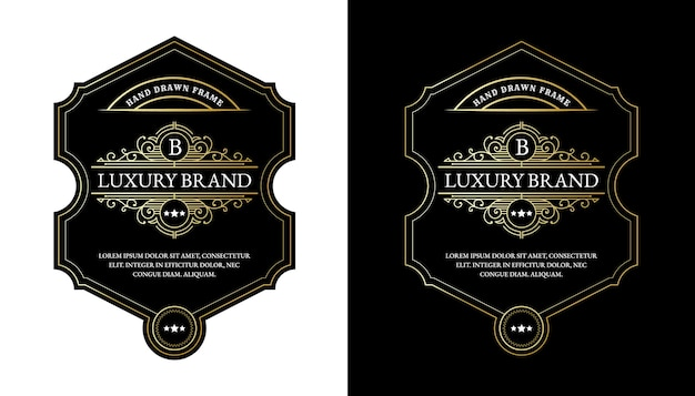 Whiskey labels with logo typography for beer whiskey alcohol drinks bottle packaging engraving