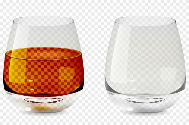 Whiskey tumbler glass transparent