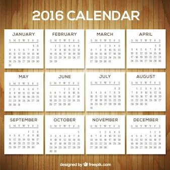 ホワイト2016年カレンダー