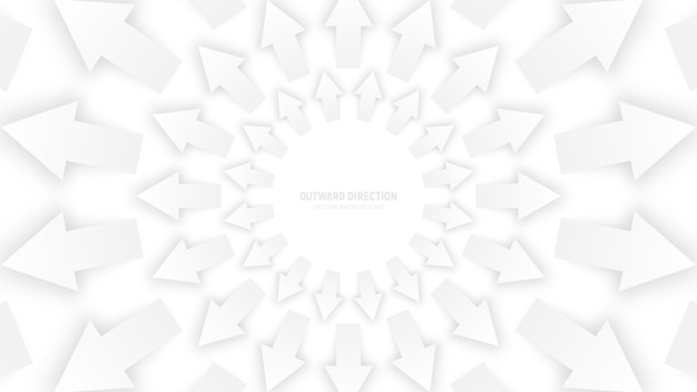 White 3d arrows abstract background