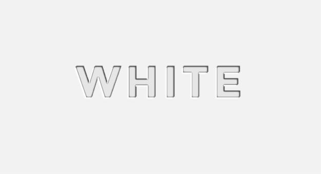White 3d editable vector text effect free vector