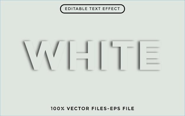 Белый 3d редактируемый векторный текстовый эффект бесплатные векторы
