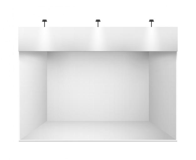 White 3d exhibition presentation stand