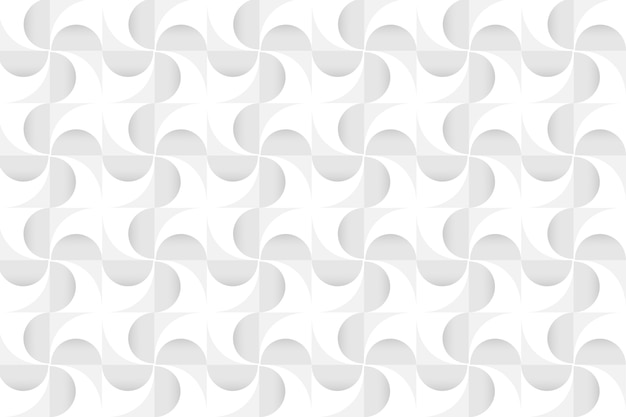 White 3d geometric modern background