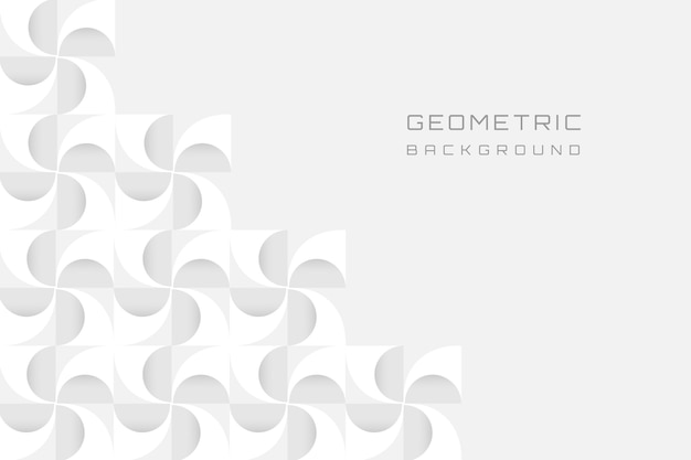 White 3d geometric modern background