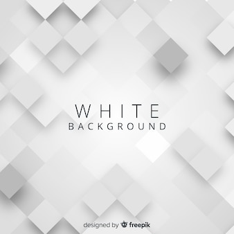 White 3d paper style background