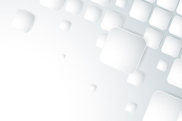 Белые обои в стиле 3d бумаги
