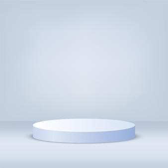 円筒形の白い3d表彰台