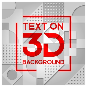 White 3d shape pattern background