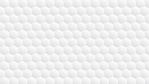 Белый абстрактный 3d шестиугольный узор дизайн