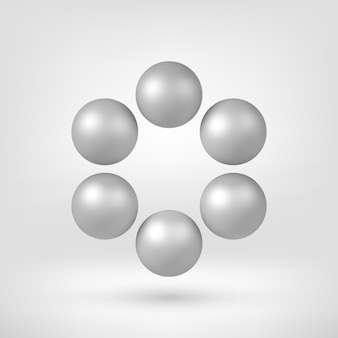 White abstract 3d shape