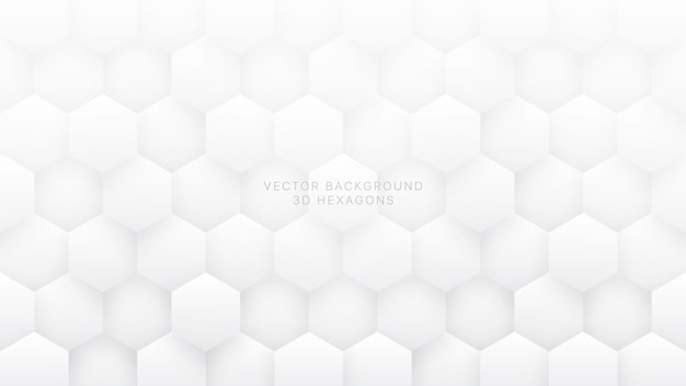 White abstract background 3d  hexagons