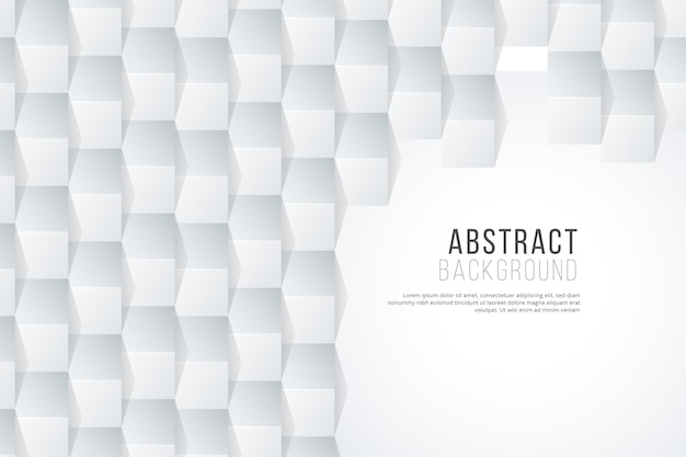 White abstract background in 3d paper concept