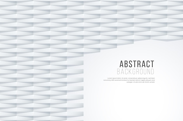 White abstract background in 3d paper design