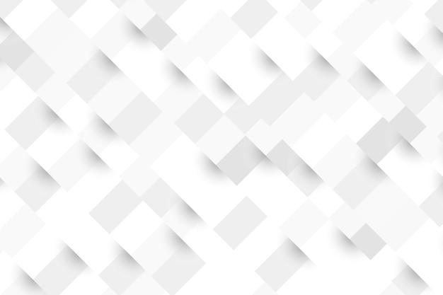 3d 종이 스타일에서 흰색 추상적 인 배경