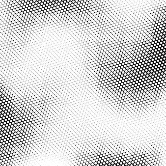 디자인 개념에 대한 흑백 하프톤 텍스처 원형 패턴이 있는 흰색 추상 배경