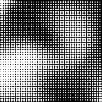 흑백 하프톤 텍스처 원형 패턴으로 흰색 추상적인 배경