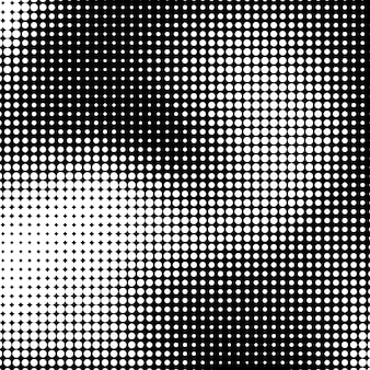 White abstract background with black and white halftone texture circles pattern