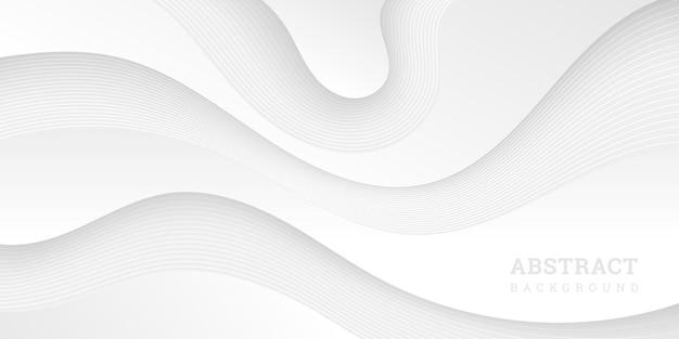 紙のスタイルでさまざまな波状の形で白い抽象的な背景