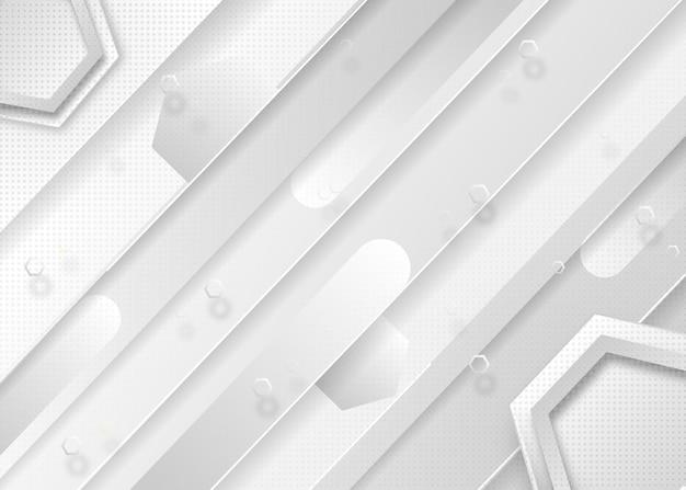 エレガントな光沢のあるラインと白い抽象的な背景