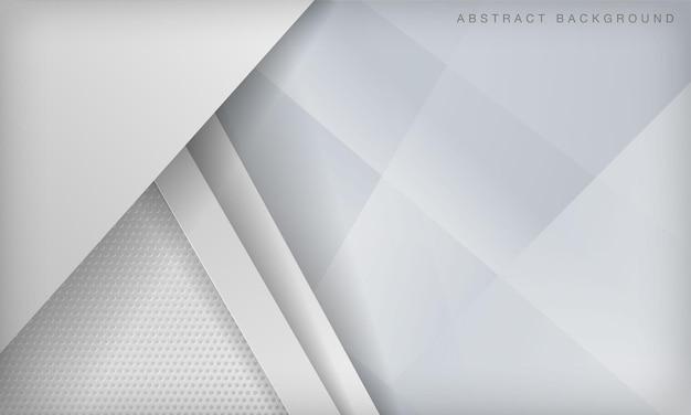白の抽象的な寸法のペーパーカットレイヤー。