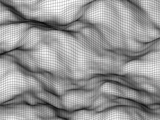 White abstract elevation polygonal mesh background