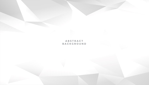 White abstract geometric shape background design