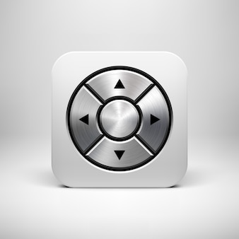 White abstract joystick app icon button