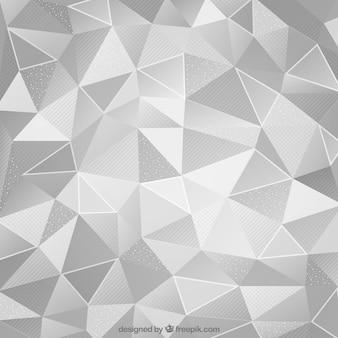 Sfondo metallico astratto bianco con triangoli