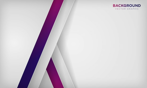 White abstract overlap layer background with colorful purple gradient color.